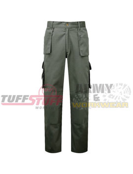 Tuff Stuff Pro Mens Work Tough Trouser Premium Combat Cargo Knee Pad Pockets 711 by Ebay Seller
