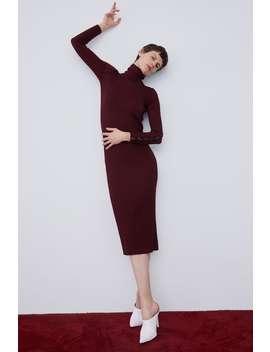 Vestido Comprido Malha Canelada  Última Semanamulher New Collection by Zara