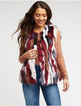 Faux Fur Longline Vest by Charlotte Russe