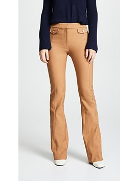 Flare Trousers With Tab Detail by Derek Lam 10 Crosby