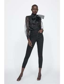 Jeans Zw Premium High Waist Fly Button  View All Knitwear Woman Sale by Zara