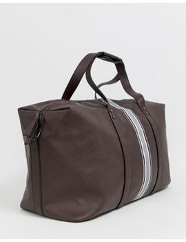 New Look Holdall With Stripe Detail In Brown by New Look