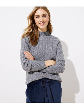 Mock Neck Cable Sweater by Loft