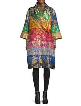 Into Dreams Silk Blend Kimono Coat by Romance Was Born