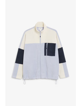 Front Zip Fleece Jacket by Monki