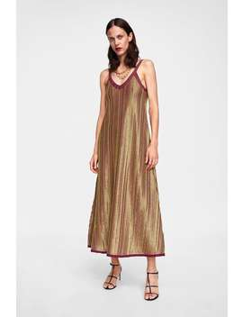 Limited Edition Metallic Thread Dress  Dresseswoman Sale by Zara