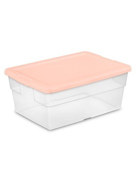 16qt Sweater Box 2pk With Feather Peach Lid   Room Essentials™ by Room Essentials