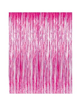 Metallic Fringe Curtains Hot Pink 3ft X 8ft Pkg/12 by Pmu