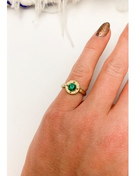 1970's Green Gem Pinky Ring by Boho Rose