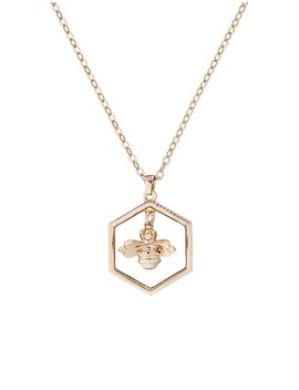 Bumble Bee Hex Pendant by Ted Baker