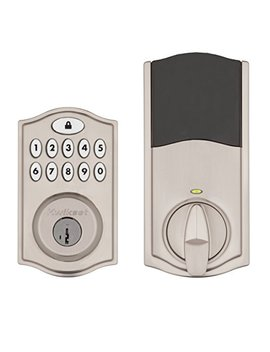 Kwikset Smart Code 914 Keypad Smart Lock (Amazon Key Edition – Amazon Cloud Cam Required), Compatible With Alexa, Featuring Smart Key In Satin Nickel by Kwikset