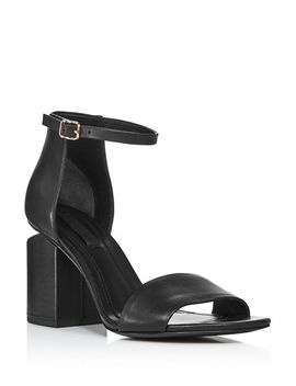 Women's Abby Leather Block Heel Sandals by Alexander Wang