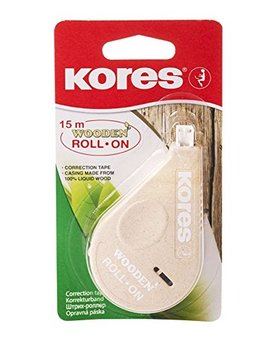 Kores Wooden Roll On Correction Tape Roller, Eco Friendly, 15m X 4.2mm, Pack Of 1 by Kores