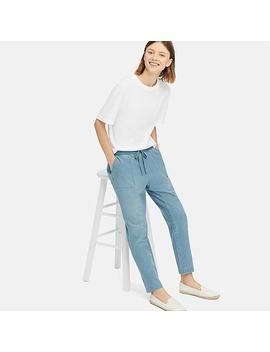Women Denim Jersey Tapered Pants by Uniqlo