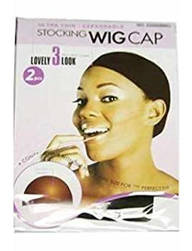 Magic Collection Invisible Expandable Ultra Thin Stocking Wig Cap 2225 Brown by Magic Colletion