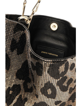 Icon Leopard Print Chainmail Shoulder Bag by Paco Rabanne