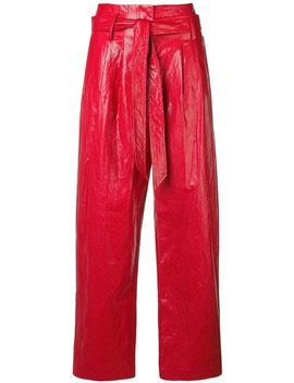 Vinyl Flared Trousers by 8pm