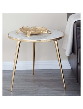 Dec Mode Modern Marble Accent Table by Hayneedle
