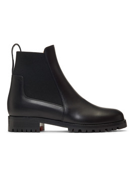 Black Marchacroche Flat Boots by Christian Louboutin