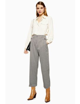 Houndstooth Check Peg Trousers by Topshop