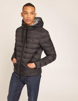 Classic Circle Logo Down Fill Hooded Puffer by Armani Exchange