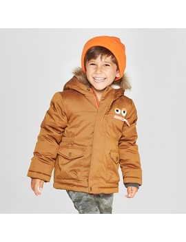 Toddler Boys' Robot Parka   Cat & Jack™ Brown by Cat & Jack