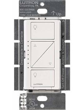 Lutron Caseta Wireless Smart Lighting Dimmer Switch For Wall & Ceiling Lights, Pd 6 Wcl Wh C, White, Works With Alexa by Amazon
