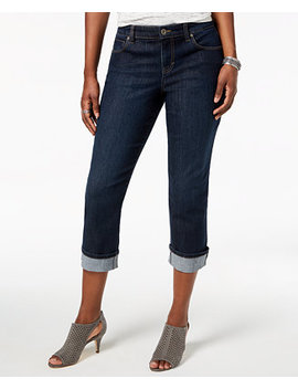 Curvy Cuffed Capri Jeans In Regular & Petite Sizes, Created For Macy's by Style & Co