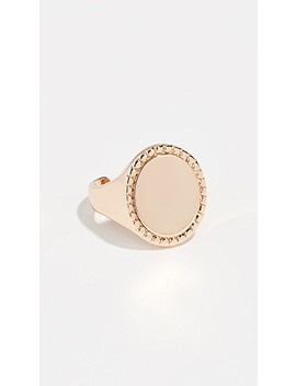 Bead Edge Signet Ring by Rebecca Minkoff