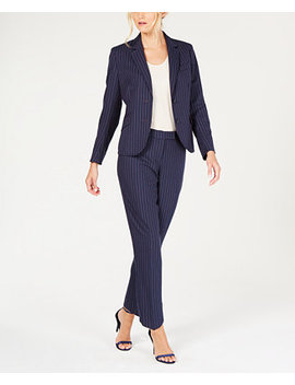 Pinstriped Pantsuit by Anne Klein