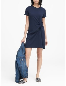Stretch Crepe Twist Front Dress by Banana Repbulic