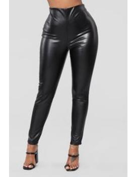 Causing A Scene Faux Leather Pants   Black by Fashion Nova
