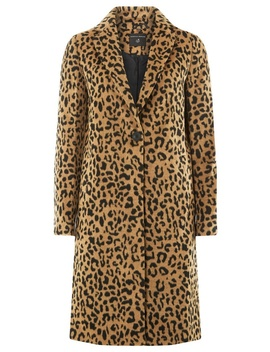 Multi Colour Leopard Print Single Breasted Coat by Dorothy Perkins