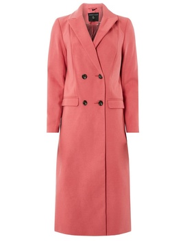 pink-double-breasted-coat by dorothy-perkins