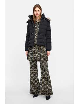 Hooded Down Puffer Jacket  New Inwoman New Collection by Zara