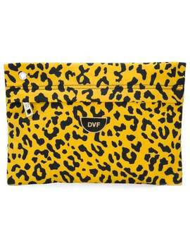 Leopard Print Clutch Bag by Dvf Diane Von Furstenberg