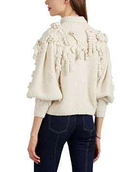 Floral Appliquéd Alpaca Blend Sweater by Ulla Johnson