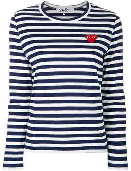 Striped Logo Top by Comme Des Garçons Play