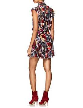 Penny Embellished Floral Velvet Minidress by Ulla Johnson