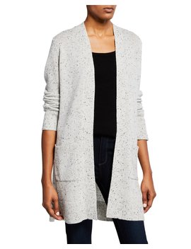 Cashmere Open Front Belt Cardigan by Theory
