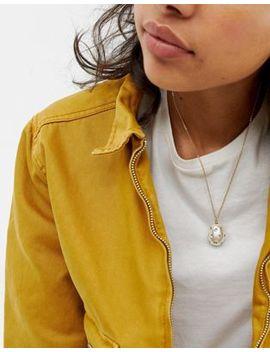 Позолоченное ожерелье с искусственным жемчугом и кристаллами Swarovski Asos Design Рremium by Asos