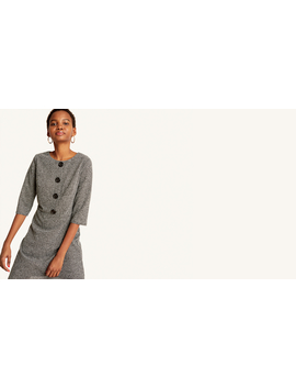 Grey Button Front Mini Dress by Nobody's Child