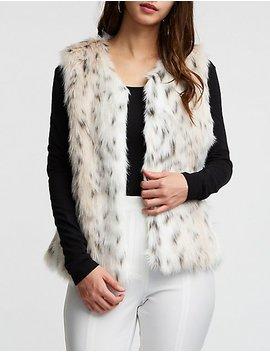 Faux Fur Leopard Vest by Charlotte Russe