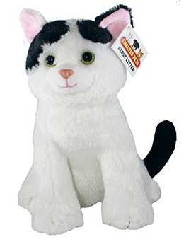 "Shelter Pets Series One: Nibbles The Cat   10"" White And Black Kitten Plush Toy Stuffed Animal   Based On Real Life Adopted Pets   Benefiting The Animal Shelters They Were Adopted From by Shelter Pets"