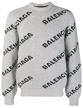 Tröja Med Rundad Hals Och Logotyp by Balenciaga