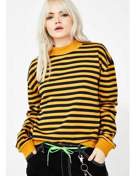 Access Denied Striped Sweatshirt by Wild Honey