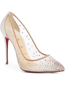 Follies Strass Pointy Toe Pump by Christian Louboutin