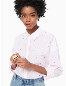 Micro Hearts Poplin Shirt by Kate Spade
