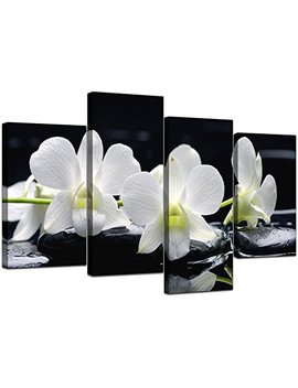 Extra Large Black White Lily Floral Canvas 130cm Wide Prints Art 4051 by Wallfillers