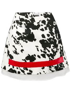 Zebra Print Mini Skirt by Brognano